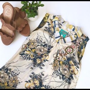 Johnny Was Silk Floral Shift Dress (size S)